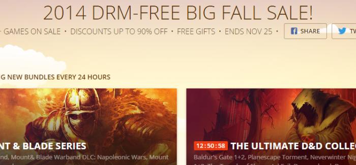 GOG.com 2014 DRM-FREE BIG FALL SALE!