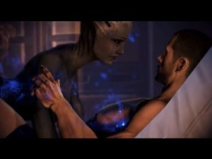 and occasionally you bang the blue alien lady. Who said video games were weird?
