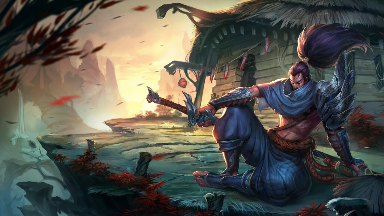 That's Yasuo. He's got a sword and a big ponytail.