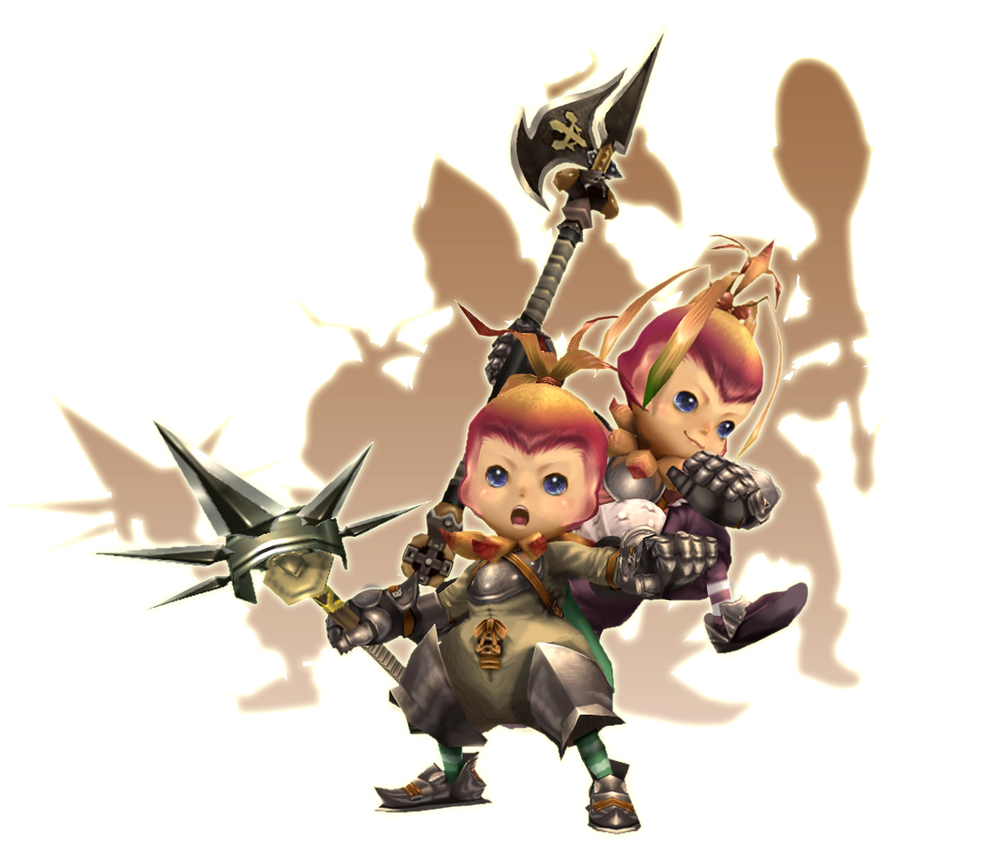 Also, these adorable characters are the tanky melee characters in the game. You really can't go wrong there.