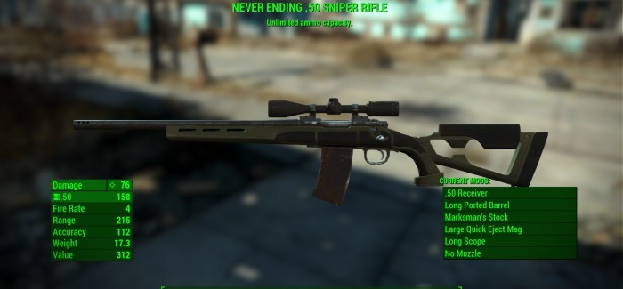 Fallout 4 Legendary Weapon Effects and Stats