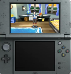 The player's character standing in the bedroom in his house.